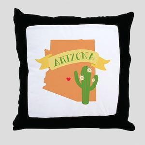 Arizona Cactus Blossom Throw Pillow