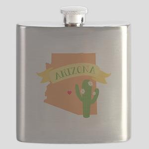 Arizona Cactus Blossom Flask