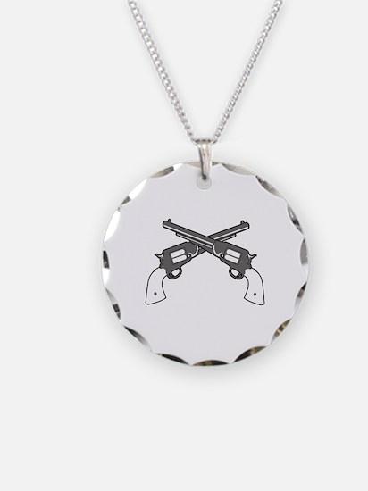 CROSSED PISTOLS Necklace