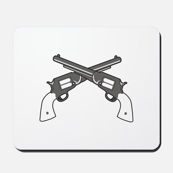 CROSSED PISTOLS Mousepad