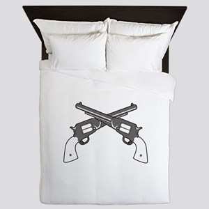 CROSSED PISTOLS Queen Duvet