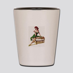 Vintage Pin-Up Shot Glass