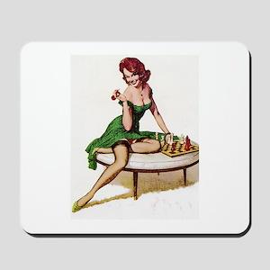 Vintage Pin-Up Mousepad