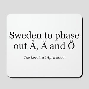 Å, Ä and Ö Mousepad