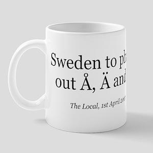Å, Ä and Ö Mug