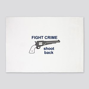 FIGHT CRIME 5'x7'Area Rug