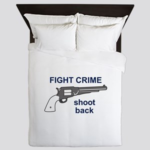 FIGHT CRIME Queen Duvet