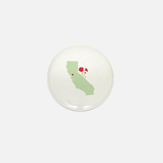 California State Map Mini Button