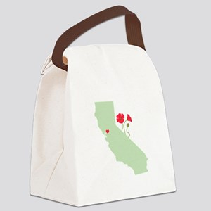 California State Map Canvas Lunch Bag