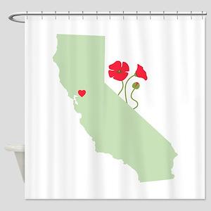 California State Map Shower Curtain