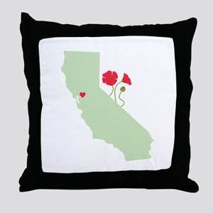 California State Map Throw Pillow