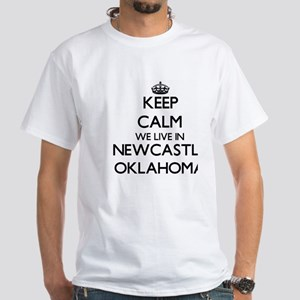 Keep calm we live in Newcastle Oklahoma T-Shirt