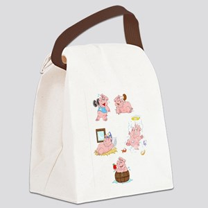 Five little pigs Canvas Lunch Bag