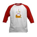 Cat Lover Kids Baseball Jersey
