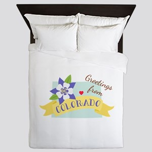 Greetings from Colorado Queen Duvet
