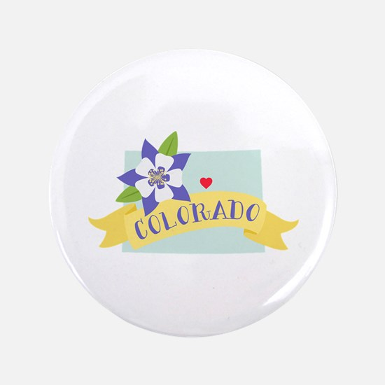 "Colorado Rocky Mountain 3.5"" Button"