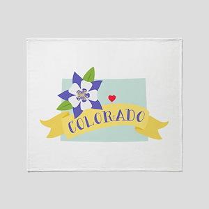 Colorado Rocky Mountain Throw Blanket
