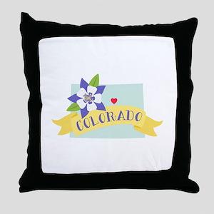Colorado Rocky Mountain Throw Pillow