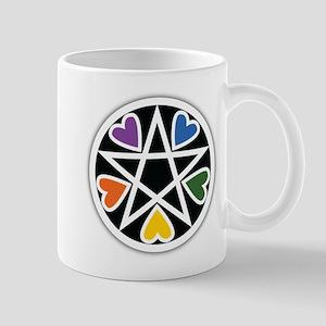 Rainbow Hearts Hex Mugs