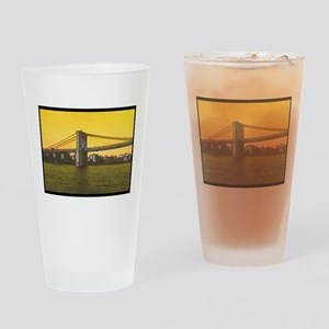 Retro Brooklyn Bridge Majestic NYC Drinking Glass