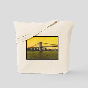 Retro Brooklyn Bridge Majestic NYC Tote Bag