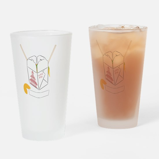 Customizable Fortune Cookie - Chine Drinking Glass