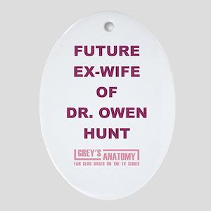 FUTURE EX-WIFE Ornament (Oval)