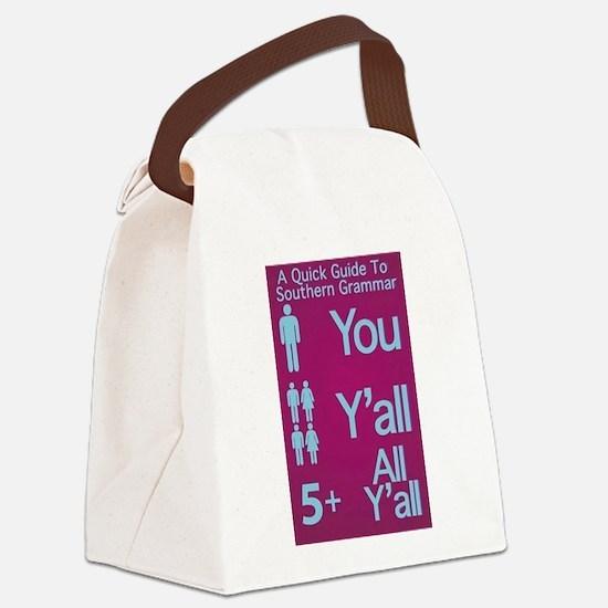 Southern Grammar: Y'all Canvas Lunch Bag
