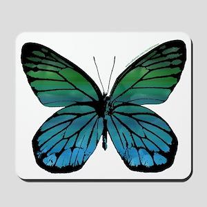 Green Blue Butterfly Mousepad