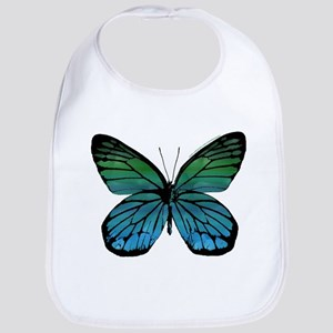 Green Blue Butterfly Bib