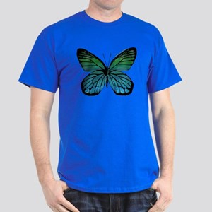Green Blue Butterfly Dark T-Shirt