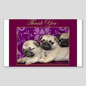 Thank You Pug puppies Sticker