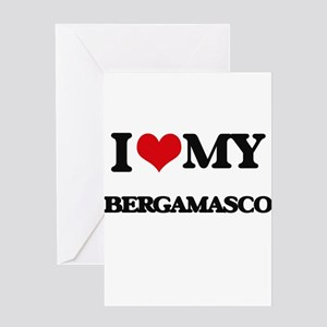 I love my Bergamasco Greeting Cards