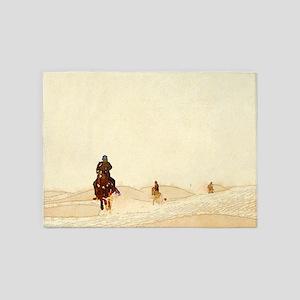 horseman in the desert 5'x7'Area Rug