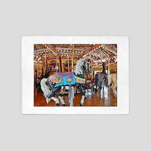 """""""CAROUSEL HORSE 4"""" 5'x7'Area Rug"""
