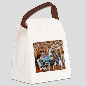 """CAROUSEL HORSE 4"" Canvas Lunch Bag"