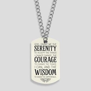 Serenity Prayer Dog Tags