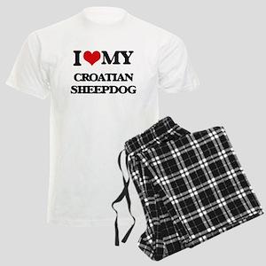 I love my Croatian Sheepdog Men's Light Pajamas