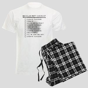 Bachelor Party Checklist Spray Painted Pajamas