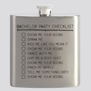 63a49f760351e Bachelor Party Checklist Spray Painted Flask