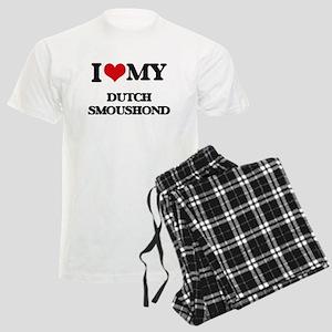 I love my Dutch Smoushond Men's Light Pajamas