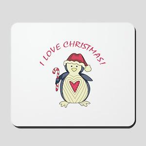 I Love Christmas! Mousepad