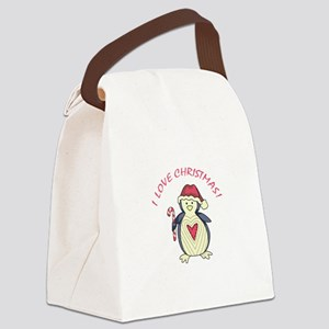I Love Christmas! Canvas Lunch Bag