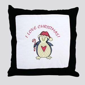 I Love Christmas! Throw Pillow