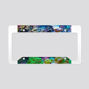 Beautiful Coral Reef License Plate Holder