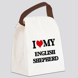 I love my English Shepherd Canvas Lunch Bag