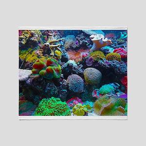 Beautiful Coral Reef Throw Blanket