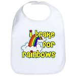 I Brake For Rainbows Bib