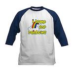 I Brake For Rainbows Kids Baseball Jersey
