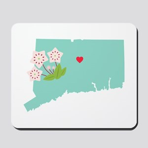 Connecticut State Map Mousepad